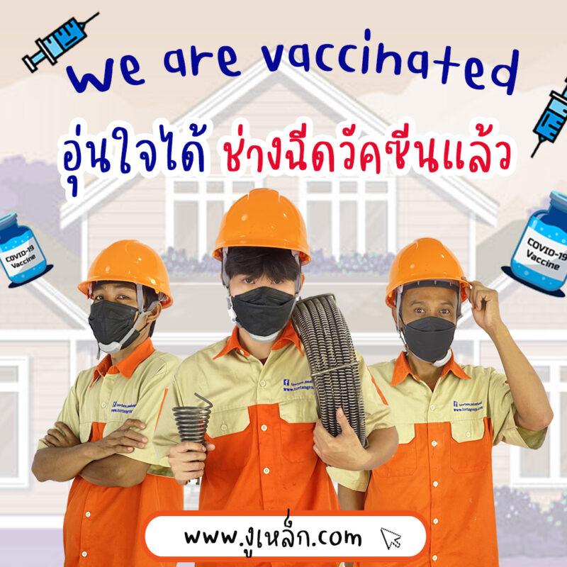 ฉีดวัคซีนแล้วงูเหล็ก